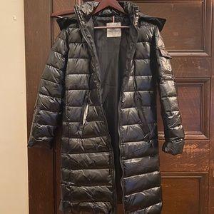 MONCLER Size 2 XS/S Black Long Puffer Down Coat